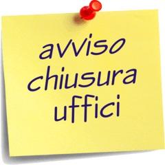 Chiusura uffici amministrativi