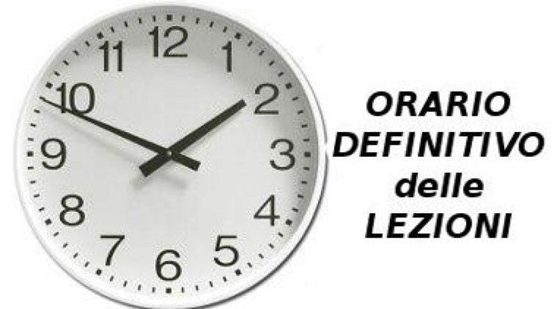 Variazione orario definitivo Istituto tecnico San Giorgio del Sannio