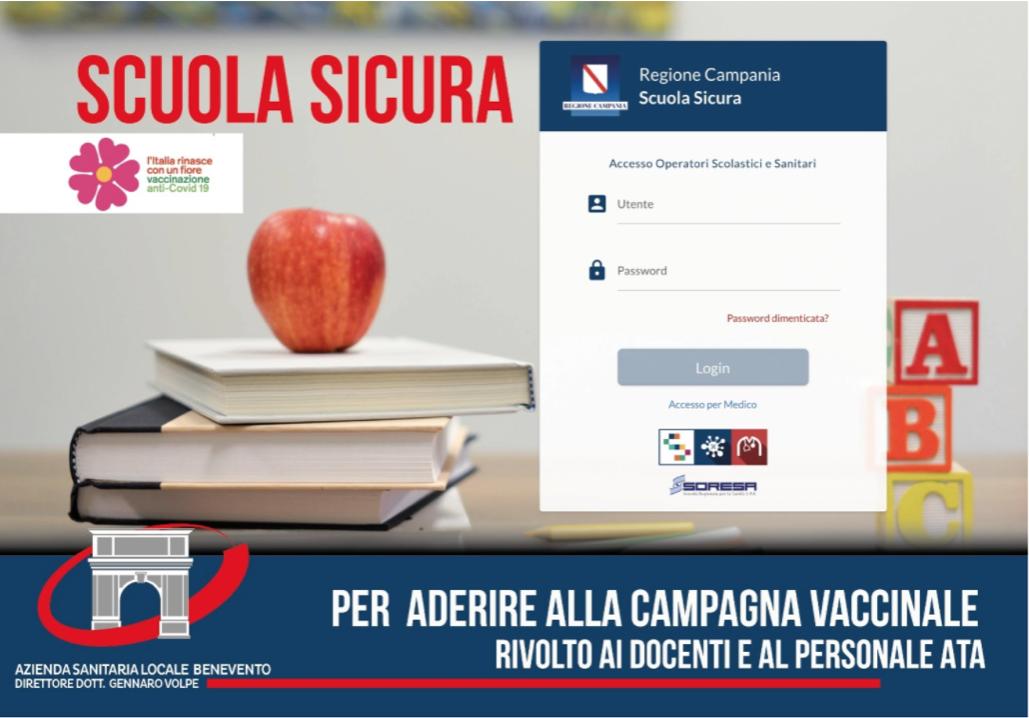 Adesione alla campagna di vaccinazione anticovid19 personale scolastico